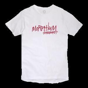 Morphium Skateboards T-Shirt Script weiss